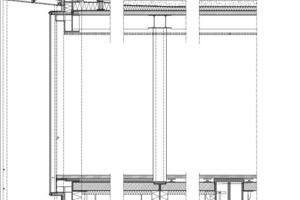 Fassadenschnitt, M 1:75<br />