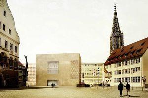 Der überarbeitete Entwurf der Synagoge: kürzer, niedriger und zum Weinhof geöffnet
