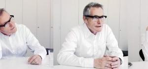 links: Das Kaiser-Karree in Karlsruhe. Rechts: Arno Lederer im Gespräch über Weiterbauen, den Ort, über Identität und die Qualität von Architektur