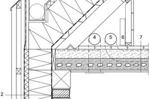 Detail Traufe Südseite Büro, M 1:20