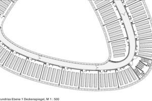 Grundriss Ebene 1 Deckenspiegel, M 1:500