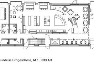 Teilgrundriss Erdgeschoss, M 1 : 333 1/3<br />