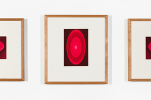 "James Turrell, ""From the Guggenheim, Aten Reign"", 2013 | Inkjet-Print auf Büttenpapier, Unikat | Blattmasse je ca. 13.5 x 22 cm | Rahmenmasse je 39.4 x 43.8 x 3.8 cm | Foto: Mischa Scherrer"