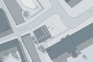 2. Preis: Kaspar Kraemer Architekten, Köln, Lageplan