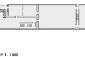 Obergeschoss, M 1:1000<br />