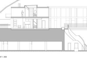 Detailschnitt Wohnung, M 1:200<br />