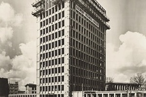"""<div class=""""9.6 Bildunterschrift"""">Das Gerling Hochhaus ist ein Gebäude der Nachkriegsmoderne. Den Stahlskelettbau bauten Anfang der 1950er-Jahre die Architekten Helmut Hentrich und Hans Heuser</div>"""