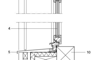 Fassadenschnitt Büro, M 1:15