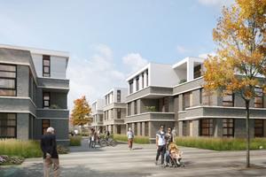 Bis Mitte 2019 wird mit dem Mothes Karree bezahlbarer, grüner Wohnraum für junge Familien, Studenten, Berufseinsteiger und Senioren realisiert
