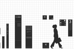 Von außen nach innen: Kommunikations- und Leitsysteme führen den Besucher in und durch ein Gebäude. Die Verbindung von Besucherführung und Kommunikationstechnik in einem ganzheitlichen System erleichtert die Orientierung<br />