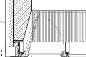 Horizontaler Fassadenschnitt, M 1:17,5