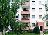 Hinterhof eines Hauses der WBG Einheit in Erfurt