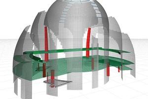 Bild 3: Berechnungsmodell Kuppel