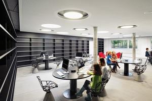 Der Leitgedanke des Entwurfskonzepts ist: innovative Kombination von Energiekonzept, Tageslichtnutzung und flexiblem Lern- und Lebensraum. Das Gebäude ist in Passivhausbauweise errichtet, die Zuluft der Lüftungsanlage wird über einen Erdkanal vorkonditioniert