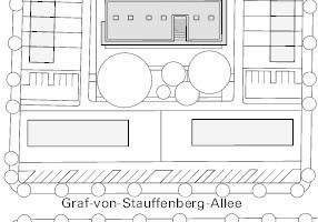 Lageplan, M 1:2500, Kita Martin Niemöller
