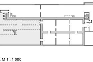 Untergeschoss, M 1:1000<br />