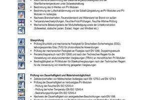 Tabelle 1Wichtige Kenndaten und Nachweise für BIPV