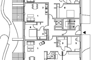 Teilgrundriss 1, Erdgeschoss, M 1:250