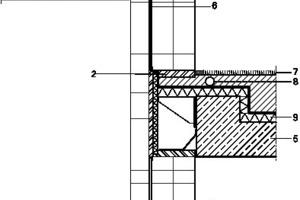 Detailschnitt Dach, M 1:50