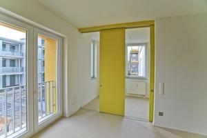 Haus 26: Die Wohnungen sind mit 2- und 3-Zimmerwohnungen innerhalb des entsprechenden Gebäudes kombiniert<br />