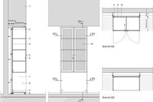 Detail Klassenschrank, M 1 : 331/3