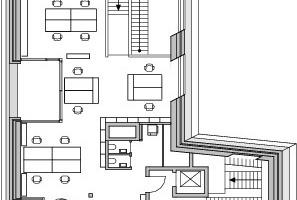 Grundriss Dachgeschoss, M 1:400