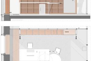 Grundriss und Wandabwicklung Büro<br />