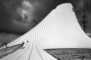 Hélène Binet, Architectural landscape in Baku (Architecture by Zaha Hadid)