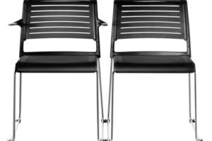 """Zur Orgatec 2014 stellte Wilkhahn mit """"Aline-S"""" ein neues """"Geschwister"""" des Kufenstuhls Aline vor, der in diesem Jahr seinen zehnten Geburtstag feiert. Statt mit transparentem Gewebe sind bei Aline-S, entworfen von Andreas Störiko, die Sitz- und Rückenrahmen mit elastischen, geschlitzten Membranen bespannt. Sie erzielen einen hohen Sitzkomfort, verleihen dem Stuhl durch die neue Materialität aber mehr visuelle Präsenz. Für die Bespannung der Sitz- und Rückenrahmen wurden fein genarbte Membranen aus durchgefärbtem, sortenreinem Polyamid entwickelt, die über präzise ausgeformte Schlitze verfügen.  www.wilkhahn.de"""