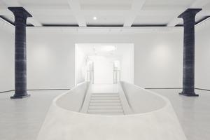 Ehemaliges Foyer, Blick in Richtung Haupteingang, eine Ebene höher<br />