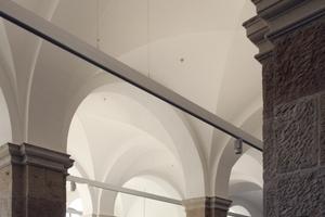 Historische Gewölbedecken im Foyer