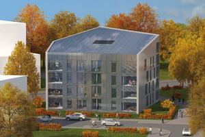EnergiePlus-Mehrfamilienhaus in Frankfurt-Riedburg