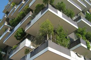 Insgesamt sind 16000 Pflanzen an der Fassade des Bosco Verticale gepflanzt worden