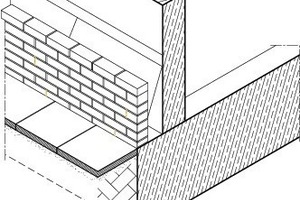 Fassadenaufbau Sockelzone, o.M.<br />