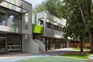 Kita Niddaforscher: anderer Ort, gleiches Baukastensystem: Ein verwinkeltes Grundstück forderte den Beweis der großen Flexibilität