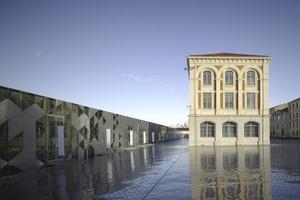 Der Aussichtsturm ist Leuchtturm für die Cité du Design: ein Ensemble aus denkmalgeschützten historischen Gebäuden und Neubauten<br />