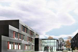 Gymnasium Baesweiler nach der Sanierung<br />