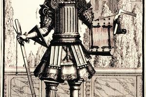 Nicolas de Larmessin. Das Gewand des Architekten, Kupferstich, um 1700<br />