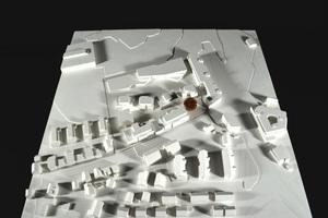Modell des 1. Platzes des Studentenwettbewerbs von Efrosini Gennimati