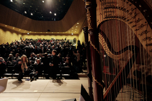 Ort der Pressekonferenz: der Kleine Saal der Elbphilharmonie