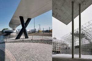 v. l.: Gewinner: Hospitalhof; einer der vier Ausgezeichneten: Ölhafenbrücke; zwei von neun Anerkennungen: Schaustelle und Kolumbarium