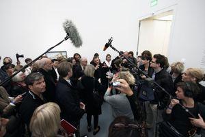 Das Medieninteresse war gewaltig, Interviews gab es nur für ausgewählte Fernsehsender