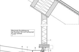 Fassadenanschluss an Dach, M 1:25<br />