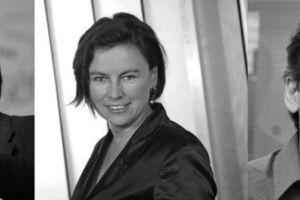 v. l.: Prof. Alexander Rudolphi, DGNB Präsident, Prof. Anett-Maud Joppien, Vizepräsidentin, Martin Haas, Vizepräsident.