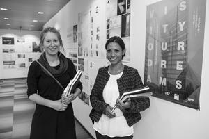 Preisträgerinnen Katrin Recker (RWTH Aachen) und Katharina Oertel (TU Kaiserlautern)