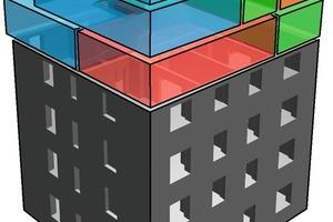 """<div class=""""10.6 Bildunterschrift"""">Die Architekten konzipierten die drei Maisonettes als dreidimensionale Puzzleteile. Der Erschließungsraum ist durch den pfiffigen Kniff mit der Chambordtreppe extrem klein</div>"""