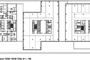 Grundriss Ebene TW 30-TM 28-TO 30, M 1:750