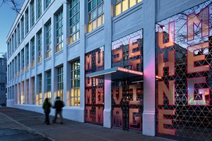 Erweiterung des Museum of Moving Image in Astoria, Queens, New York, Anfang 2011<br />