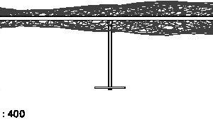 Seitenansicht, M 1:400