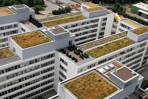 Bei der Abdichtung des Verwaltungsgebäudes der EnBW wurde aufgrund der Größe des Flachdaches eine Bitumenabdichtung gewählt<br />